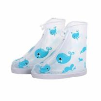 [바보사랑]장마철 휴대용 PVC 방수 슈즈 신발 돌핀 레인커버