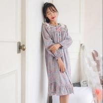 [바보사랑]플로랄 60수 아사 면 원피스잠옷