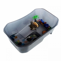 [바보사랑]노모펫 개방식 거북이 어항(소) 블랙  NX-11