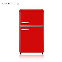 [하이마트] 레트로 투도어 소형미니 냉장고 / REF-D85R