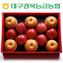 [대구경북능금농협/산지직송] 사과+배 혼합세트 2호 (사과 7입, 배 6입)