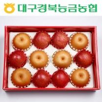 [대구경북능금농협/산지직송] 사과+배 혼합세트 1호 (사과 6입, 배 6입)