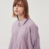 [바보사랑](UNISEX) 오버핏 10수 코듀로이 셔츠 바이올렛