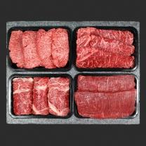 [도뜰한우]명품세트3호 2kg(등심500g+채끝500g+살치살500g+양지500g/1+등급/양지2등급