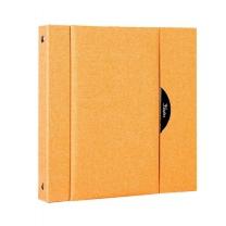 [바보사랑]칸나앨범 다게르15M 오렌지 고급양장 중형 접착식 사진앨범