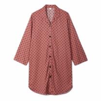 [바보사랑]도트 모달 면 셔츠 원피스잠옷