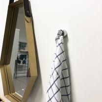 [바보사랑]그레이 원형 수건꽂이 홀더 3p세트