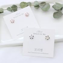 [바보사랑]미니 자개 꽃 은귀걸이