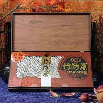 청정죽방목함 4호 고죽방(특품) 1kg + 고급목함 + 금빛보자기고죽방(특품)