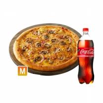 [도미노피자] 콰트로 치즈퐁듀(오리지널)M+콜라1.25L