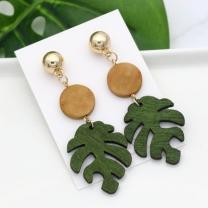 [바보사랑]몬스테라잎 귀걸이