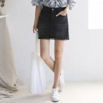 [바보사랑]Berry Denim Mini Skirt