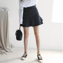 [바보사랑]Frill Denim Mini Skirt