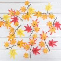 [바보사랑]가을 단풍잎 1봉-30개 조화 단풍 나무 잎사귀 장식