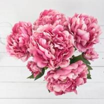 [바보사랑]큰꽃  피오니 부쉬 45cm 조화 꽃다발