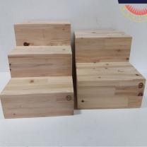 [바보사랑]삼나무 원목 안전계단 3단