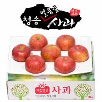 아침햇살농장 청송 얼음골 사과 2.5kg(6~7入)