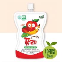 [프로엠] 유기농 갈아만든 퓨레(사과,바나나,딸기)100g 10개입(박스)