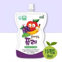 [프로엠] 유기농 갈아만든 퓨레(사과,바나나,포도)100g 10개입(박스)