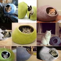 키비키스 울하우스 100%에코울 고양이집 고양이하우스