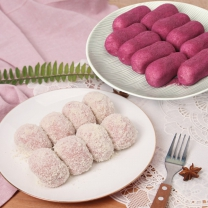 [헐레벌떡] 쫀득쫀득 한입에 쏙 딸기 크림치즈모찌 10알 x 2 + 고구마슈 모찌 10알 x