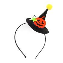호박 유령 마녀 모자 머리띠