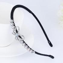 나비 큐빅 머리띠 포인트 헤어밴드