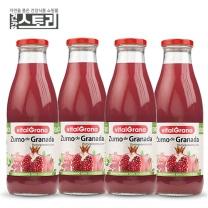 건강스토리 바이탈그라나 유기농 석류주스 750ml X 4병