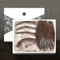 [착한어부]반건조 제수용 생선 실속 세트/민어조기 3미(대)+참돔 1미(대)+서대3미(대)
