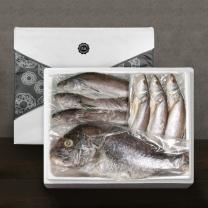[착한어부]반건조 제수용 생선 고급 세트 / 민어 3미(대)+민어조기 3미(대)+참돔 1미