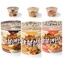 [야불]찬물로 끓여먹는 즉석라면밥 카레비빔밥+해물짬뽕면밥+매콤짜장면밥 3가지 묶음