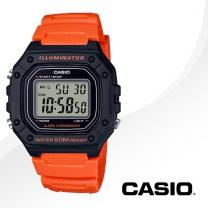 [CASIO] 카시오 W-218H-4B2 우레탄밴드 남여공용 손목시계
