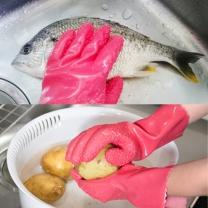 리빙도쿄 필러 고무장갑 / 생선비늘,야채껍질 벗기기