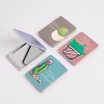 일러스트 손거울 패션소품 휴대용 손거울