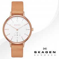 [SKAGEN] 스카겐 SKW2405 여성시계 가죽밴드 손목시계