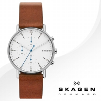 [SKAGEN] 스카겐 SKW6462 남성시계 가죽밴드 손목시계