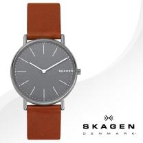 [SKAGEN] 스카겐 SKW6429 남성시계 가죽밴드 손목시계