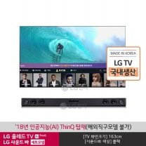 LG 올레드 TV 벽걸이형 OLED65E8KW  OLED65E8KNA+사운드바 SK1D