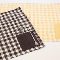 체크무늬 도트무늬 식탁매트