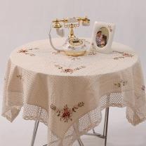 로맨틱 테이블 커버 꽃자수 테이블보