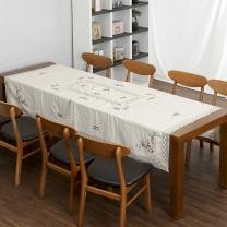 레이스 테이블보 고급 꽃자수 식탁보