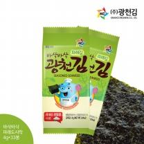 [광천김] 본사직배송 바삭 파래도시락김 4g x 33봉