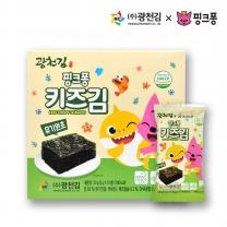 [광천김] 본사직배송 광천김 핑크퐁 유기원초 키즈김 미니 2g x 10봉