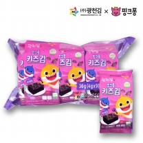 [광천김] 본사직배송 광천김 핑크퐁 유기원초 키즈김 도시락김 4g x 9봉