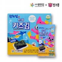 [광천김] 본사직배송 광천김 핑크퐁 무조미 키즈김 1.5g x 10봉