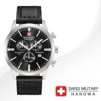 [SWISS MILITARY] 스위스밀리터리 06-4308.04.007 남성시계 가죽밴드 손목시계
