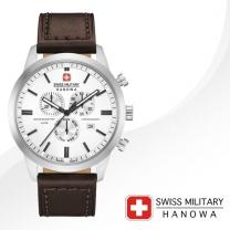 [SWISS MILITARY] 스위스밀리터리 06-4308.04.001 남성시계 가죽밴드 손목시계