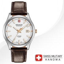 [SWISS MILITARY] 스위스밀리터리 06-4303.04.001.09 남성시계 가죽밴드 손목시계