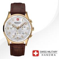[SWISS MILITARY] 스위스밀리터리 06-4187.02.001 남성시계 가죽밴드 손목시계
