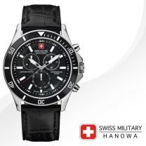 [SWISS MILITARY] 스위스밀리터리 06-4183.7.04.001.07 남성시계 가죽밴드 손목시계